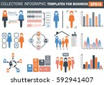 collection of infographic... | Shutterstock .eps vector #592941407