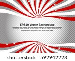 red and white swirl strips on... | Shutterstock .eps vector #592942223