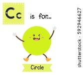 letter c cute children colorful ... | Shutterstock .eps vector #592946627