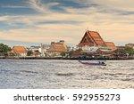 public attractions chao phraya... | Shutterstock . vector #592955273