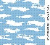 vector seamless pattern of... | Shutterstock .eps vector #592957157