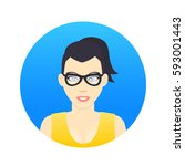 avatar icon  girl in glasses in ...