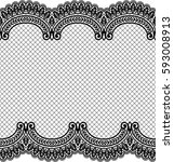 seamless lace pattern  flower... | Shutterstock .eps vector #593008913
