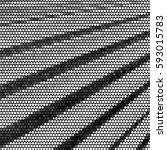 grunge halftone dots texture... | Shutterstock . vector #593015783