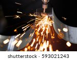 drill with diamond tipped... | Shutterstock . vector #593021243