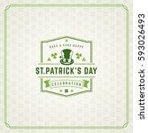 saint patricks day retro... | Shutterstock .eps vector #593026493