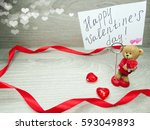 love valentine's day... | Shutterstock . vector #593049893