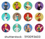 set of avatars characters of...