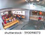 hong kong  china   december 4 ... | Shutterstock . vector #593098073