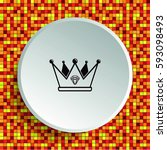 crown icon. finance icon ... | Shutterstock .eps vector #593098493