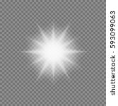 vector glowing light bursts... | Shutterstock .eps vector #593099063
