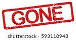 """stamp with word """"gone""""  grunge...   Shutterstock .eps vector #593110943"""