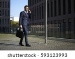 handsome male marketing experts ... | Shutterstock . vector #593123993