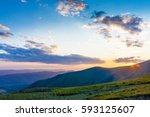 view on mountain peaks.... | Shutterstock . vector #593125607