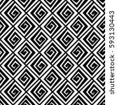 seamless black and white square ... | Shutterstock .eps vector #593130443