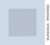 brick icon vector flat design... | Shutterstock .eps vector #593144363