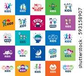 vector logo kids | Shutterstock .eps vector #593158907
