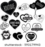 selection of vector and clip... | Shutterstock .eps vector #593179943