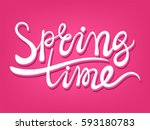 vector spring time positive... | Shutterstock .eps vector #593180783