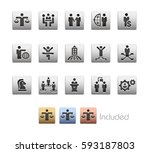 business success icons   the... | Shutterstock .eps vector #593187803