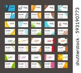 20 colorful business card... | Shutterstock .eps vector #593190773