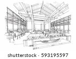 sketch streaks restaurant ...   Shutterstock .eps vector #593195597