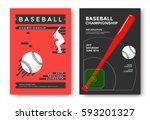 baseball championship modern... | Shutterstock .eps vector #593201327