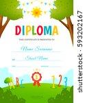 kids diploma design template.... | Shutterstock .eps vector #593202167