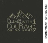 Climbing Vintage Label Design....