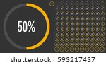 set of circle percentage... | Shutterstock .eps vector #593217437