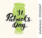 happy st patrick's day vintage... | Shutterstock .eps vector #593220647