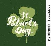 happy st patrick's day vintage... | Shutterstock .eps vector #593222933