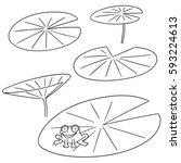 vector set of lotus | Shutterstock .eps vector #593224613