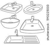 vector set of sink | Shutterstock .eps vector #593225033