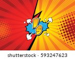 fight backgrounds comics style... | Shutterstock .eps vector #593247623
