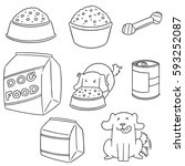 vector set of dog food | Shutterstock .eps vector #593252087