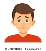 cartoon avatar the boy with an... | Shutterstock .eps vector #593261987