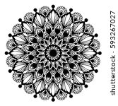mandalas for coloring book.... | Shutterstock .eps vector #593267027