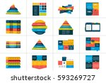 big set of tables  schedules ... | Shutterstock .eps vector #593269727