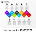 modern infographics process... | Shutterstock .eps vector #593272577