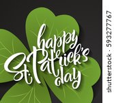 happy st. patrick's day... | Shutterstock .eps vector #593277767