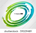 abstract technology circles... | Shutterstock .eps vector #59329489
