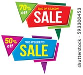 sale label price tag banner... | Shutterstock .eps vector #593300453