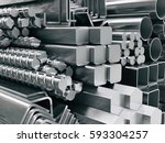 metal profiles and tubes.... | Shutterstock . vector #593304257