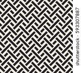 interlacing lines maze lattice. ... | Shutterstock .eps vector #593307887