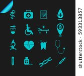medical icons | Shutterstock .eps vector #593313857