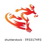 passionate extreme sports... | Shutterstock .eps vector #593317493