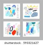 set of artistic creative... | Shutterstock .eps vector #593321627