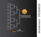blank basketball tournament... | Shutterstock .eps vector #593326013