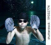boy exhaling bubbles | Shutterstock . vector #59332774